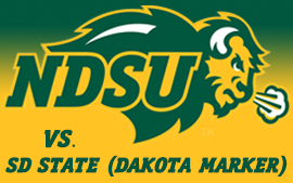 NDSU Football vs. South Dakota State (Dakota Marker)