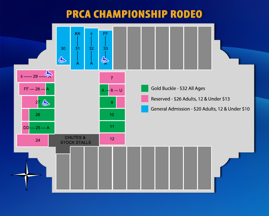 2016 PRCA Rodeo Map
