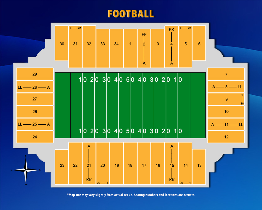 Gallery For Gt Fargodome Football Seating Chart
